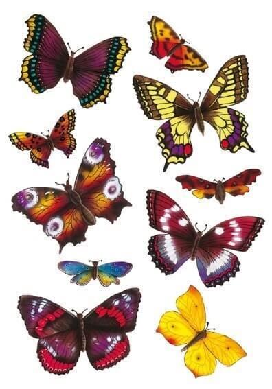 HERMA 6388 10x Sticker MAGIC Schmetterlinge 3D-Flügel