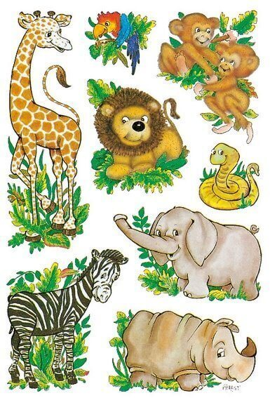 HERMA 3793 10x Sticker DECOR Dschungeltiere