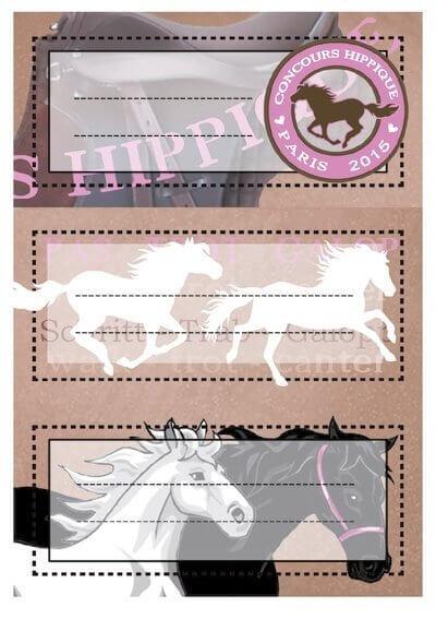 HERMA 5526 10x Schuletiketten Pferde beglimmert