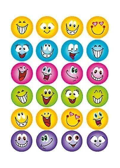 HERMA 6818 10x Sticker MAGIC Gesichter Glitterfolie