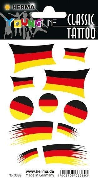 HERMA 3389 10x Tattoos Deutschland Fahnen