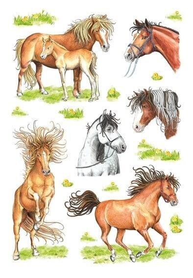 HERMA 3307 10x Sticker DECOR Gezeichnete Pferde