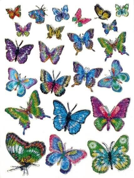HERMA 6867 10x Sticker MAGIC Schmetterlinge Crystal