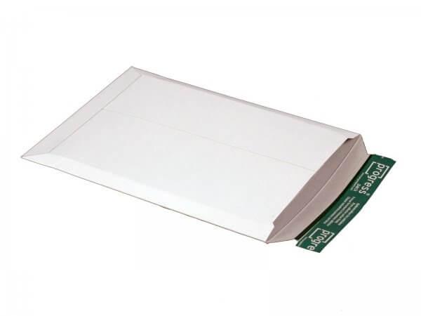 Versandtasche aus Vollpappe 350 x 248 x - 32 mm Weiß