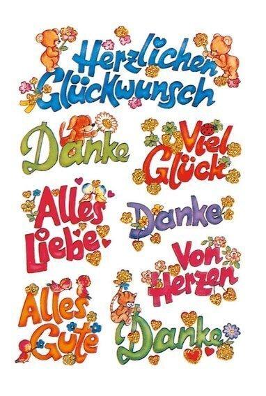 HERMA 3813 10x Sticker DECOR Glückwünsch beglimmert