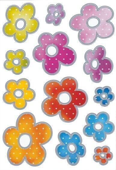 HERMA 3332 10x Sticker DECOR Blumen Silberprägung