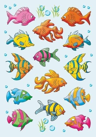 HERMA 3333 10x Sticker DECOR Fische