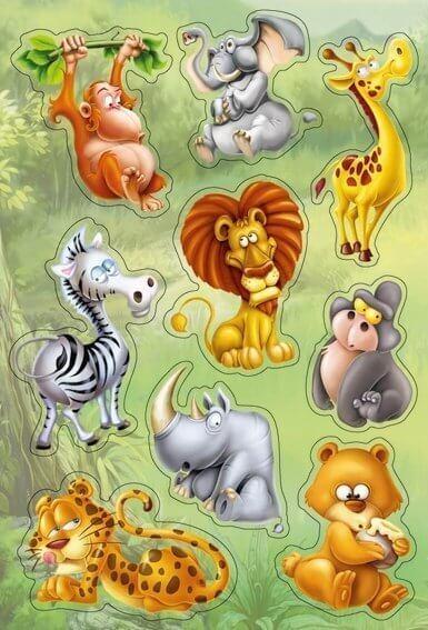 HERMA 3248 10x Sticker MAGIC Dschungeltiere Popup