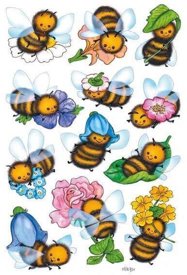 HERMA 3569 10x Sticker DECOR Lustige Bienen