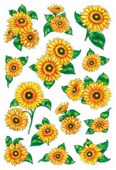 HERMA 3346 10x Sticker DECOR Sonnenblumen beglimmert