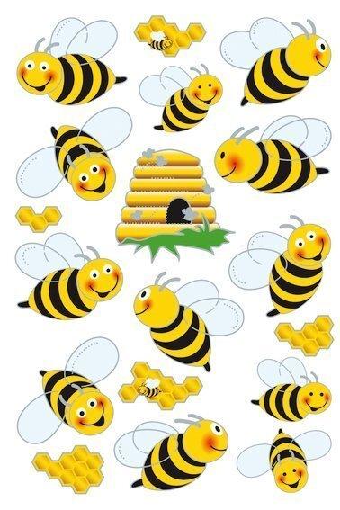 HERMA 3227 10x Sticker MAGIC Bienen Flügelsticker