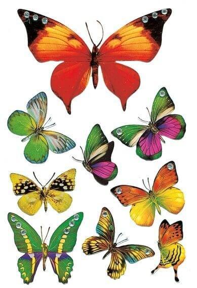 HERMA 6934 10x Sticker MAGIC Schmetterling Jewel
