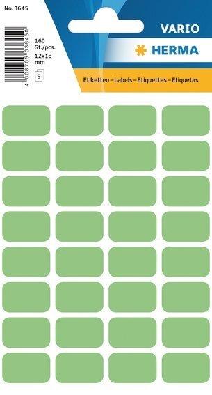 HERMA 3645 Vielzwecketiketten 12x18 mm grün Papier matt 1600 Stück