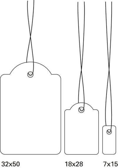 HERMA 6933 Hängeetiketten 18x28 mm mit Faden weiß 1000 Stück