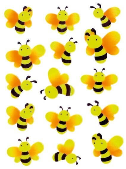 HERMA 6038 10x Sticker MAGIC Bienen Neon