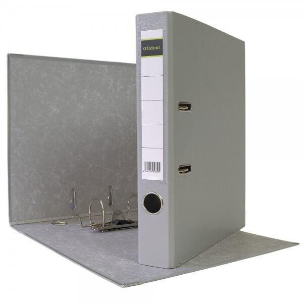 DIN A4 Aktenordner 5 cm PP Kunststoff Grau