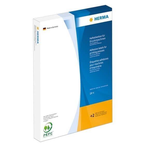 HERMA 4509 Haftetiketten für Druckmaschinen DP4 Ø 40 mm rund weiß Papier matt 8750 Stück