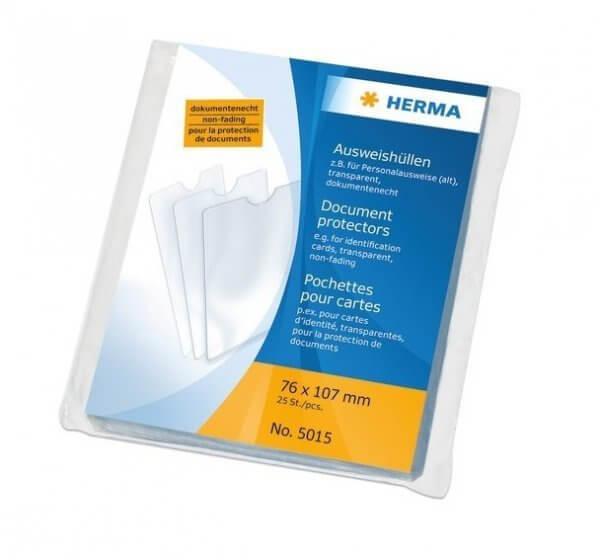 HERMA 5015 25x Ausweishüllen 76x107 mm für Personalausweise