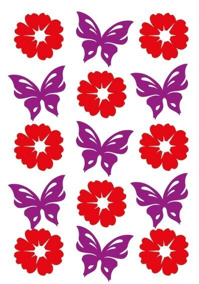 HERMA 6438 10x Sticker MAGIC Blumen & Schmetterlinge Filz