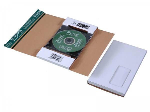 CD-Jewel-Mailer 225 x 125 x 12 mm Fenster links