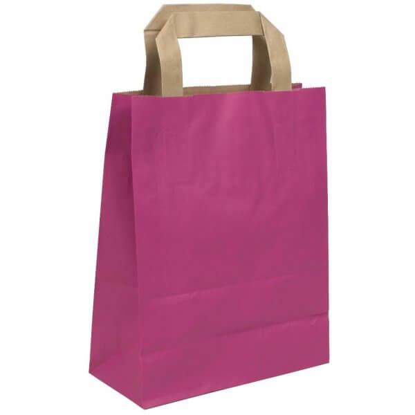 Papiertragetaschen 18 + 08 x 22 Pink