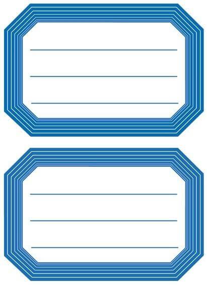 HERMA 5714 10x Schuletiketten neutral blauer Rand liniert 82x55 mm