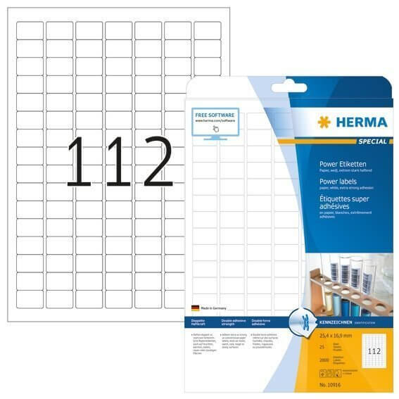 HERMA 10916 Etiketten A4 254x169 mm weiß extrem stark haftend Papier matt 2800 Stück