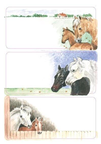 HERMA 5893 10x Schuletiketten Pferde