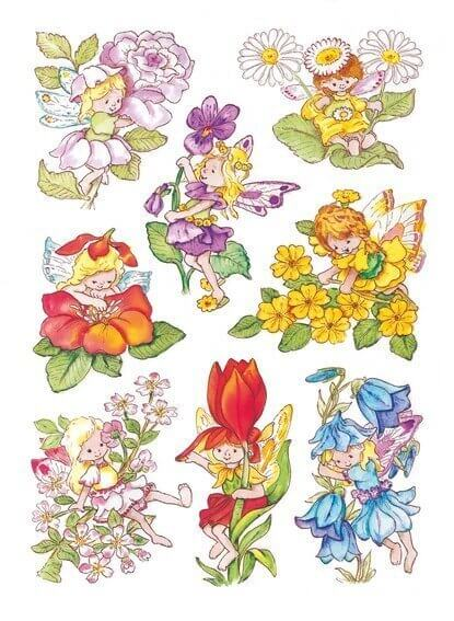 HERMA 3478 10x Sticker DECOR Blumenelfen