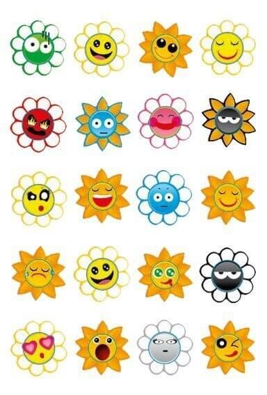 HERMA 3668 10x Sticker MAGIC Crazy Suns Puffy