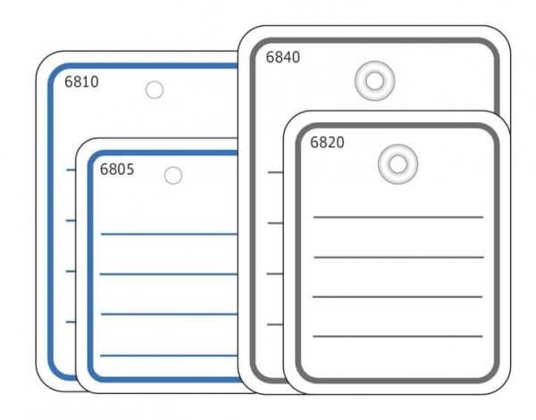 HERMA 6821 Stückwarenanhänger 40x50 mm mit Öse / Faden 1000 Stück