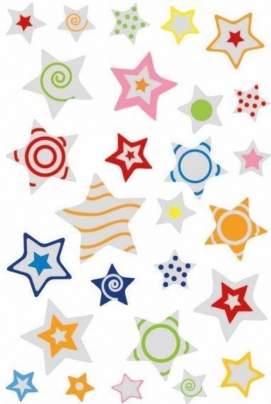 HERMA 6924 10x Sticker MAGIC Sterne Puffy