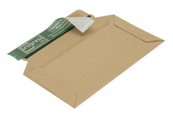 Versandtasche aus Wellpappe 220 x 110 x 32 mm