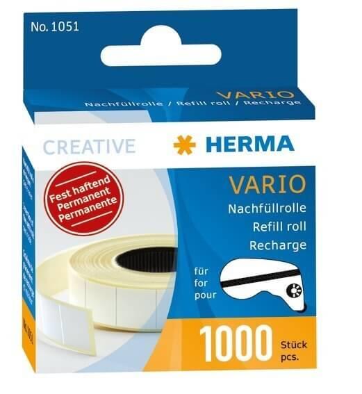 HERMA 1051 Vario Nachfüllrolle fest haftend 1000 Klebestücke