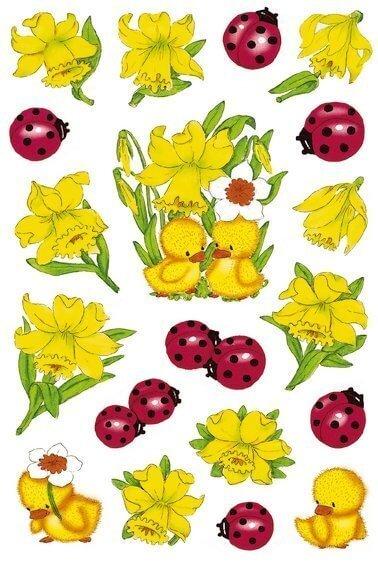 HERMA 3629 10x Sticker DECOR Osterglocken