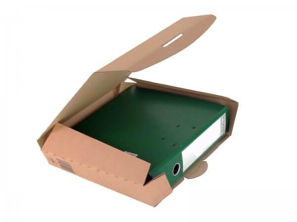 Ordner-Transport-Box 320 x 288 x 80 mm Braun