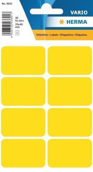 HERMA 3691 Vielzwecketiketten 25x40 mm gelb Papier matt 400 Stück