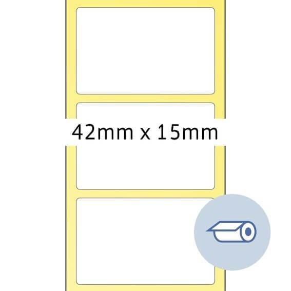 HERMA 4061 Rollenetiketten Thermotransfer 42x15 mm weiß Papier seidenmatt 5000 Stück