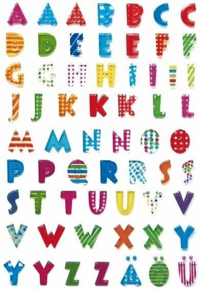 HERMA 6291 10x Sticker MAGIC Buchstaben Stone geprägt