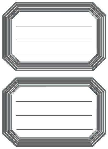 HERMA 5719 10x Schuletiketten neutral grauer Rand liniert 82x55 mm