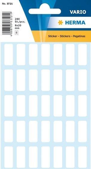 HERMA 3721 Vielzwecketiketten 8x20 mm weiß Papier matt 2800 Stück