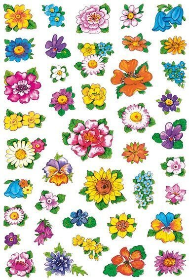 HERMA 3522 10x Sticker DECOR Kleine Blumenköpfe