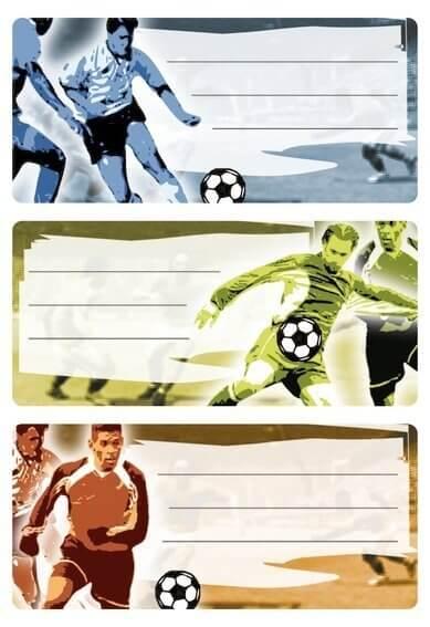 HERMA 5598 10x Schuletiketten Fußball