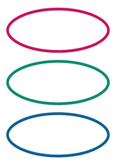 HERMA 5782 10x Schuletiketten neutral rot/grün/blau oval