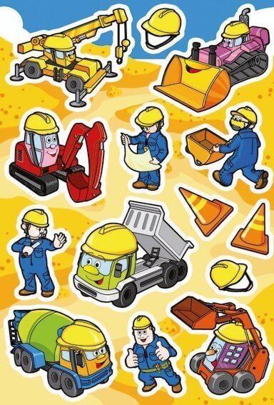 HERMA 3071 10x Sticker DECOR Baustelle
