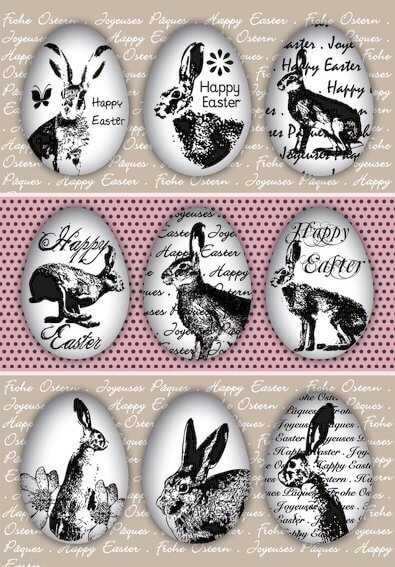 HERMA 1723 10 x Sticker DECOR Happy Easter Eierhasen