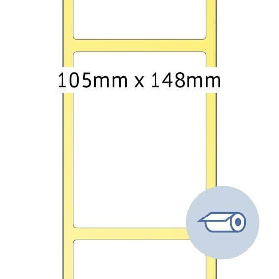 HERMA 4095 Rollenetiketten Thermotransfer 105x148,5 mm weiß Papier seidenmatt 1000 Stück