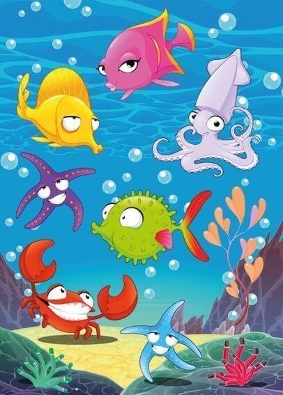 HERMA 3164 10x Sticker MAGIC Sea Animals Wackelaugen
