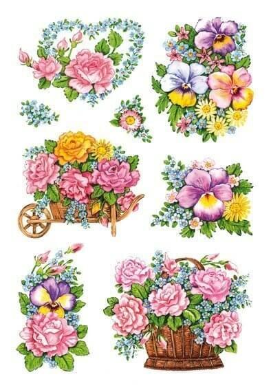 HERMA 3354 10x Sticker DECOR Nostalgische Blumentöpfe