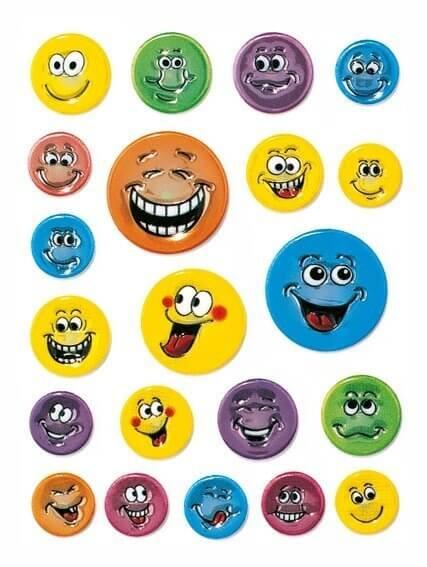 HERMA 6153 10x Sticker MAGIC Gesichter geprägt